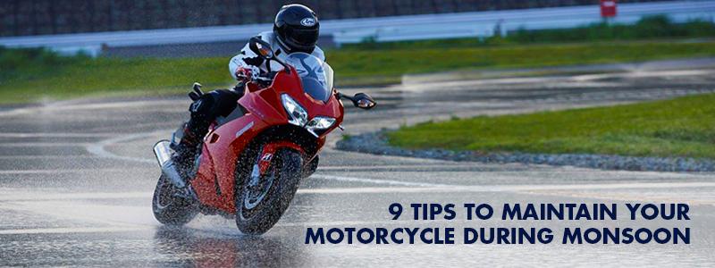 bike maintenance tips for monsoon
